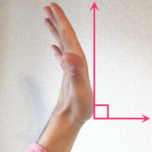 パントマイムの壁の手を広げた際のチェックポイント